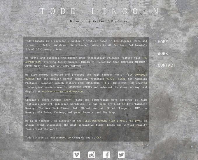Todd Lincoln - Filmmaker